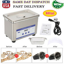 Stainless Steel Industry Ultrasonic Cleaner Heated Heater w/ Timer US Plug
