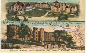 Worcester Academy Aread Institute Domestic Science 1905 MA