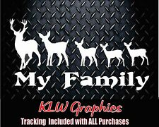 My Deer Family w/ kids* Vinyl Decal Sticker Car Truck Hunting Bow Funny 2500