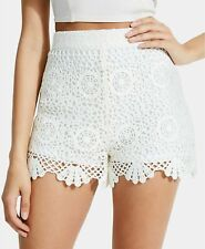 $69. Guess Women's Large Olisa Crochet Shorts White L NWT NEW