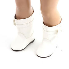 best gift fashion long white boot shoes for 18inch American girl doll party b586