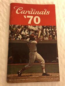 1970 ST LOUIS CARDINALS Media Guide LOU BROCK Bob GIBSON Joe TORRE Steve CARLTON