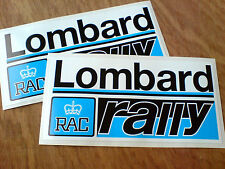 LOMBARD RAC RALLY Blue Motorsport Classic Stickers Decals 2 off 100mm