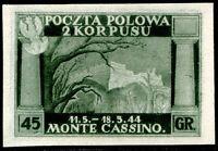Corpo Polacco 1946 n. 5Bb prova di colore (m763)