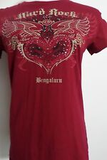 Hard Rock Cafe Bengaluru India Red T-Shirt Rhinestones Size M