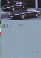 Audi S4 + 4.2 Prospekt 1994 1/94 brochure Katalog Autoprospekt catalog broschyr