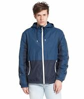 Men's Lightweight Water-Resistant Active Hooded Windbreaker Rain Jacket Outwear