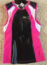 TRIMAX Triathlon Ladies Tri Top Jersey Lycra Black Pink Retail $90 XS NWT