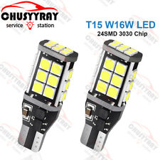 2x BULBS REVERSE LIGHT 15 LED T15 W16W WHITE 6000K CANBUS FREE ERROR FOR BMW