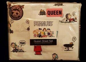 "New ""Peanuts Gang Sleepy Time Queen Sheet Set Berkshire Blanket & Home Co."""