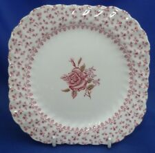 """A JOHNSON BROTHERS 'ROSE BOUQUET' 6¾"""" SQUARE SIDE/SALAD PLATE"""