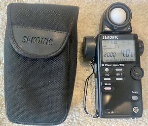 Sekonic L-508 Zoom Master Digital Light Exposure Meter w/ Case Fully Working