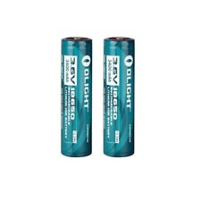 2 x Olight 18650 3400mah Protected Rechargeable Li-ion Batteries For Flashlight