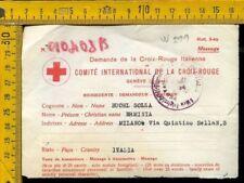 WW2 posta militare prigionieri di guerra modulo croce rossa 1944  W 299
