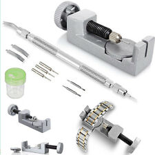 Kit Spring Bar Adjuster Set Pins Metal Watch Band Bracelet Link Remover Repair