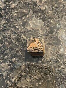 DOG Antique/Vintage Copper Printing Plate Letterpress Block