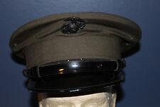 Original U.S. Marine Corps EM Visor Cap w/EGA, Size 7, 2000 dated, VG