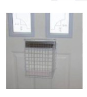 Protect Your  Mail Letter Box Cage Mail Post White  Width Medium ( check size )