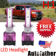 H1 Led Headlight Bulbs Conversion Kits 225000Lm Hi/Low Beam 6000K White Us Stock (Fits: Cadillac)