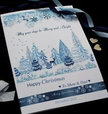 Large Personalised Winter Wonderland Christmas Card