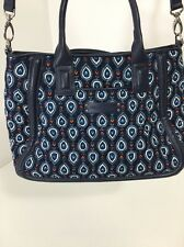 VERA BRADLEY WOMEN'S TRAPEZE SATCHEL BAG NAVY/MULTICOLOR NWOT $88