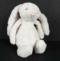 """Jellycat Small White Bashful Bunny Rabbit Plush 7"""" Soft Baby Mini Stuffed Animal"""