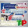 55x Airline Travel Luggage Sticker Logo Stickers Scrapbook World Tourist Decals!