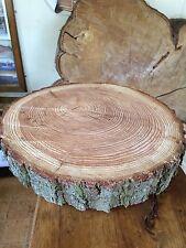 """18"""" registro RUSTICO fetta, anello, in legno stand torta nuziale, Centro Pezzo"""