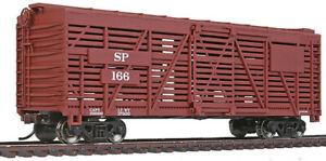 Walthers Trainline HO Scale 40' Stock/Cattle Car Southern Pacific/SP Boxcar Red