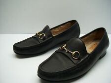 08a4b6db1 100% Authentic Gucci Womens Shearling Horsebit Loafers Shoes Size 37.5 $760