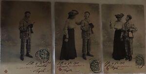 * Série de 3 cartes postales fantaisie - Sir John à Paris