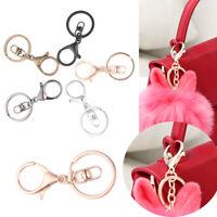Metal Classic Swivel Clips Bag Hook Split Ring Key Chain Lobster Clasp KeyRing