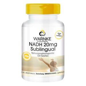 NADH 20 mg sublingual -120 Tabletten, hochdosiert, vegan | Warnke Vitalstoffe