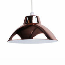 "Copper 14"" Industrial Metal Coolie Ceiling Light Shade Pendant Easy Fit"