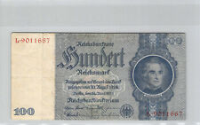 Allemagne 100 Reichsmark 24.6.1935 n° L9011667 Pick 183a