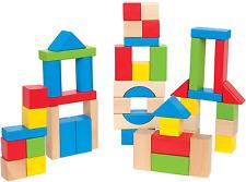 Maple Wood Kids Building Blocks Stacking Wooden Block Educational Toy Set