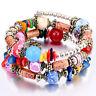 Men Women Beaded Stone Bracelets Beads Elastic Multi Layer Bracelet Jewelry