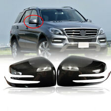 Carbon Fiber Dipping Print Side Mirror Cover Caps For 11-15 W164 W166 ML-Class