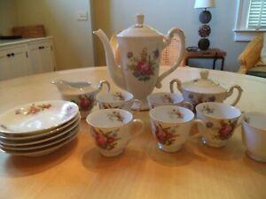 Cherry China Porcelain Childrens Tea Set Floral Occupied Japan Vintage EUC