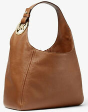 Michael Kors Fulton Large Hobo Shoulder Bag Cuir Brun 35s0gfth3l