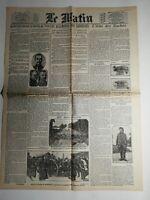 N469 La Une Du Journal Le Matin 27 octobre 1914 les Allemands sont repoussés