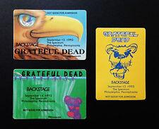 Grateful Dead Backstage Pass Philadelphia Spectrum 9/12,13,14/1993 Jerry Garcia