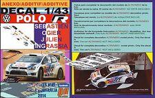 ANEXO DECAL 1/43 VOLKSWAGEN POLO R WRC S.OGIER R.AUSTRALIA 2014 WINNER (08)