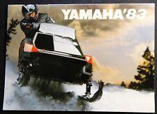 "VINTAGE 1983 YAMAHA SNOWMOBILE SALES BROCHURE 5"" X 7"" SRV VMAX 28 PAGES  (398)"