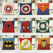"18"" Cushion Sofa Cover Marvel Avengers SuperheroThrow Pillow Case Home Decor"