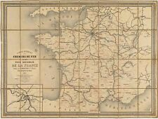 Well-executed 1861 railroad map of France published under Napoleon III.