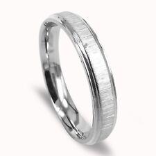 Women Wedding Band Titanium Ring Anniversary Ring Matte Silver 4mm
