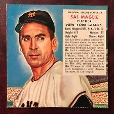 1953 Redman Tobacco Set SAL MAGLIE no tab #NL 8 NEW YORK GIANTS - VG/VG-EX