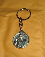 POPE FRANCIS and SAINT JOHN PAUL II Metal Round Keychain New Catholic Religious