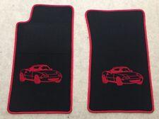 Autoteppich Fußmatten für Mazda MX 5 NA Miata Motiv schwarz rot 2teilig Neuware